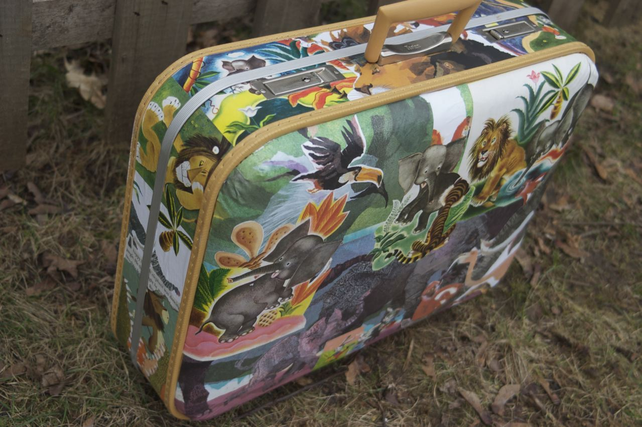 Decoupage Suitcase Goodness. - Clean.