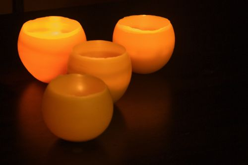 How to Make Beeswax Luminaries - Clean