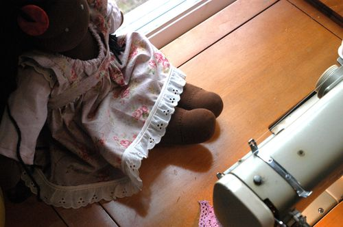 A Waldorf doll dress. | Clean : : the LuSa Organics Blog