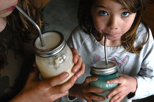 DIY straw cup from a mason jar. | Clean : : the LuSa Organics Blog