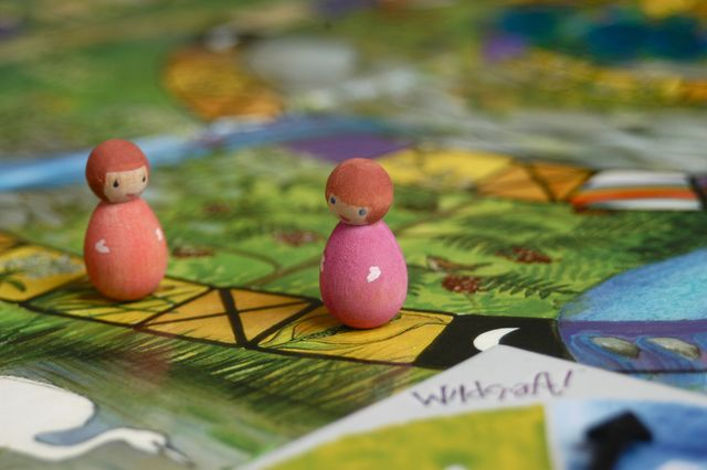 Peg dolls as game pieces. Of course! | Clean : : the LuSa Organics Blog