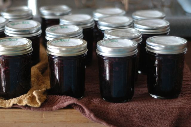 Blueberry jam, three ways. Ginger, lemon balm, or basil. | Clean.