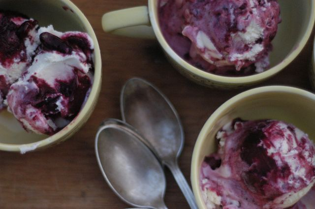 Best. Ice cream. Ever. Blueberry-buttermilk ice cream recipe. [Clean]