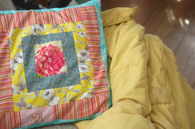 Patchwork pillow is a metaphor | Clean.