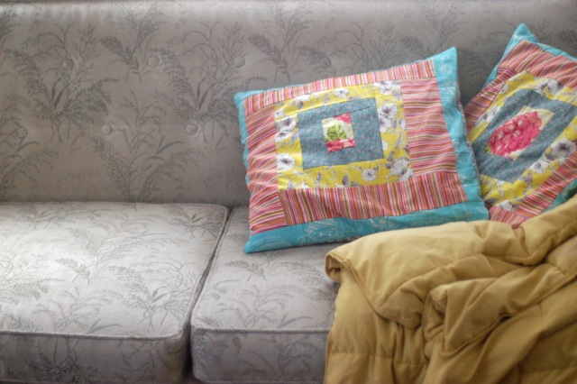 Patchwork pillow is a metaphor   Clean.
