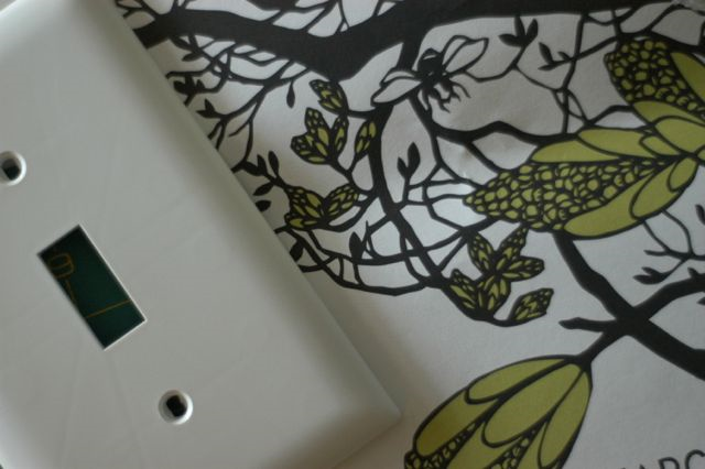 DIY decoupaged switch plates | Clean. www.lusaorganics.typepad.com