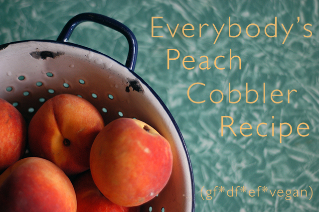 Everybody's Peach Cobbler Recipe | Clean www.lusaorganics.typepad.com