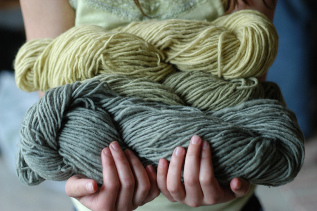 And to cast on a project where you know not only the story-line of the fiber but the dyes as well? It's downright magical.